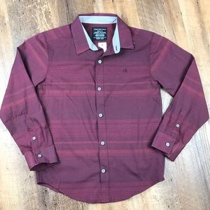 Calvin Klein Jeans Burgundy Button Up Shirt M